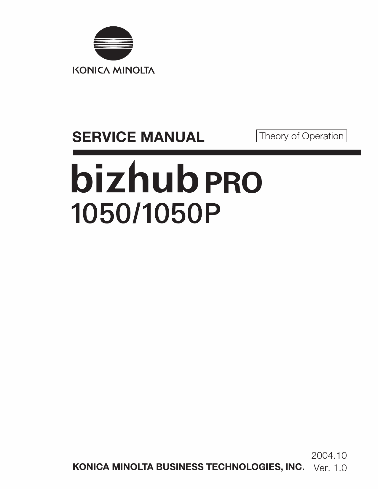 Konica-Minolta bizhub-PRO 1050 1050P THEORY-OPERATION Service Manual-1